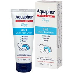 Aquaphor Baby Diaper Rash Cream 3.5 Ounce (Pack of 3) - Pediatrician Recommended Brand