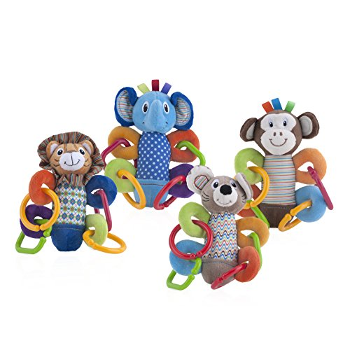 Nuby Squeeze N' Squeak Plush Toy, Characters May Vary