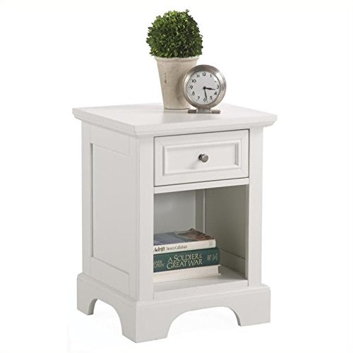 Home Styles Naples Night Stand, White Finish