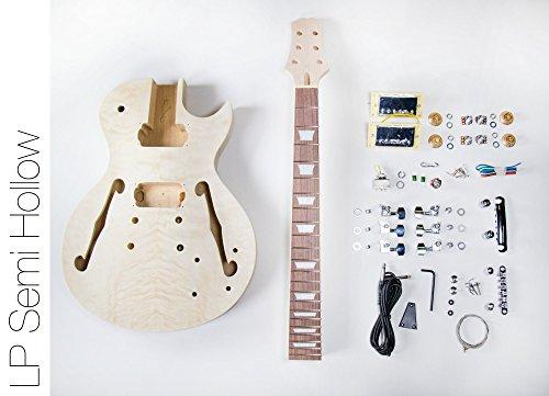 TheFretWire DIY Electric Guitar Kit Singlecut Semi Hollow Build Your Own Guitar Kit