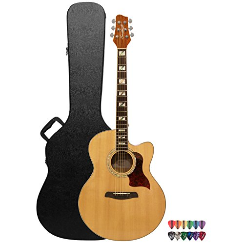 Sawtooth ST-MPL-AEJC-KIT-1 Spruce Jumbo 6 String Acoustic Electric Guitar