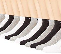 Calvin Klein Men's 6 Pair Bonus Liner, Assorted, 7-12