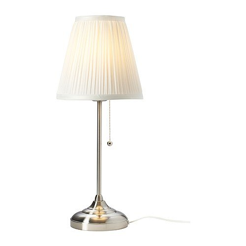 Ikea Arstid Table Lamp, Nickel Plated White