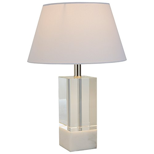 "Stone & Beam Modern Crystal Table Lamp, 18"" H, with Bulb, Shade"