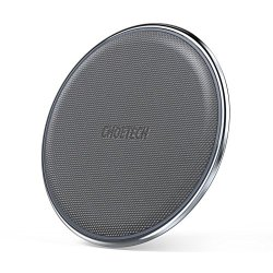 CHOETECH Zinc-alloy & PU Ultra-Slim 7.5W Wireless Charging Pad for iPhone X 8/8 Plus, 10W Fast Charge for Samsung Galaxy