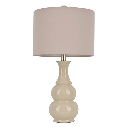 """Décor Therapy 26.5"""" Crackle Table Lamp, Ivory"""