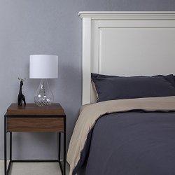 SOTTAE Elegant Fashionable Design Clear Glass Lamp Living Room ...