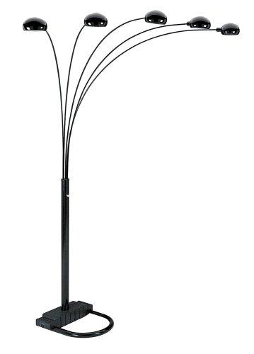 ORE International 5 Arm Arch Floor Lamp, Black