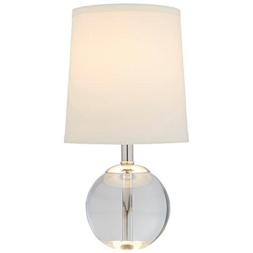 "Stone & Beam Modern Mini Table Lamp, with Bulb, 14"" x 7"" x 7"", White Shade"