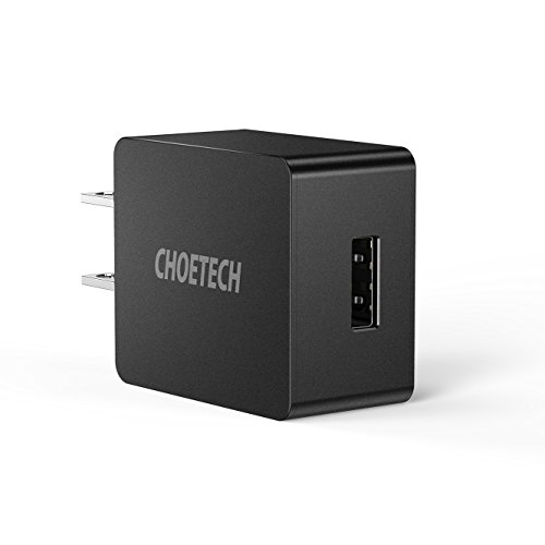 ltra-Compact Travel Wall Charger for iPhone X/8/7/7 Plus/6S/6 Plus, iPad Pro/Air 2/mini 3/mini 4, Samsung S4/S5, and More