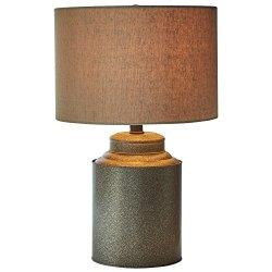 "Stone & Beam Farmhouse Jug Lamp with Bulb, 20"" H, Black"