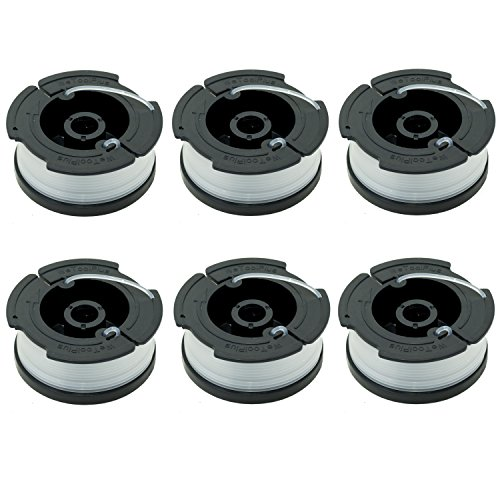 """LBK 0.065"""" Spool for BLACK+DECKER String Trimmers ( Replacement Autofeed Spool) , compatible with BLACK+DECKER AF-100 , 6-Pack"""