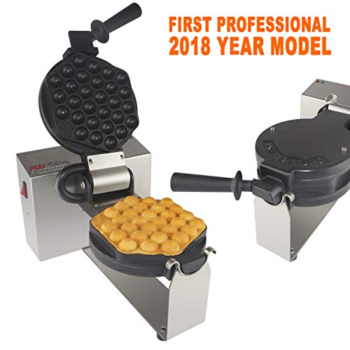 Bubble Waffle Maker Professional Rotated Nonstick ALD Kitchen (Grill/Oven for Cooking Puffle, Hong Kong Style, Egg, QQ, Muffin, Cake Eggettes and Belgian Bubble Waffles) (Bubble Waffle Maker)