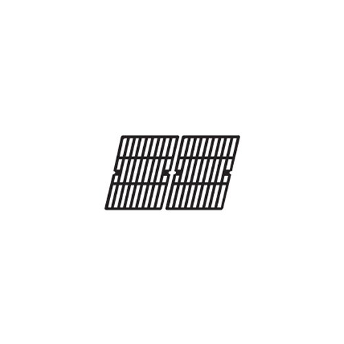 Music City Metals Matte Cast Iron Cooking Grid Replacement for Gas Grill Models Charbroil 640-01303702-3 and Kenmore 146.16222010, Set of 2