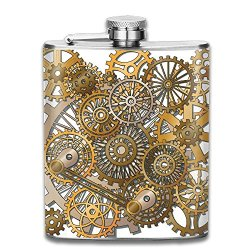 SmallHan Style Of Steampunk Mechanical Design Engineering Theme New Brand 304 Stainless Steel Flask 7oz