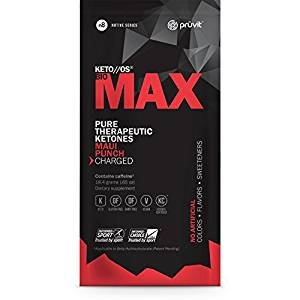 KETO//OS MAX Maui Punch CHARGED, BHB Salts Ketogenic Supplement - Beta Hydroxybutyrates Exogenous Ketones for Fat Loss, Workout Energy Boost and Weight Management through Fast Ketosis, 3 Sachets