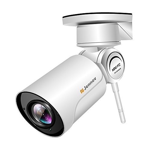 Wireless WiFi IP Security Camera, Jennov HD Wireless WiFi 1080P PTZ Security Camera Pan Tilt Zoom Outdoor Waterproof Bullet Home Surveillance Night Vision Pre-Installed 16G Card with 4X Zoom Lens