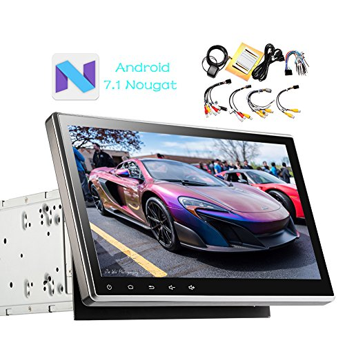 "10.1"" Universal Android 7.1 Nougat System 2GB Car Stereo Head Unit 2 Din Car GPS Navigation Touch Screen Bluetooth 1080P Video Music Car Radio Audio System with Mirrorlink Wifi USB support DVR OBD2"