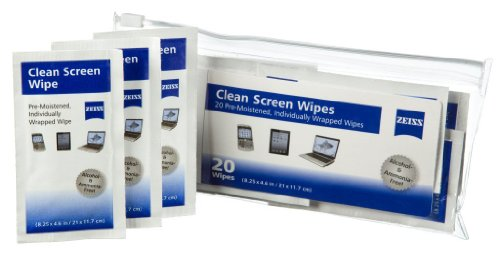 Zeiss LCD Clean Screen Wipes, 20 count