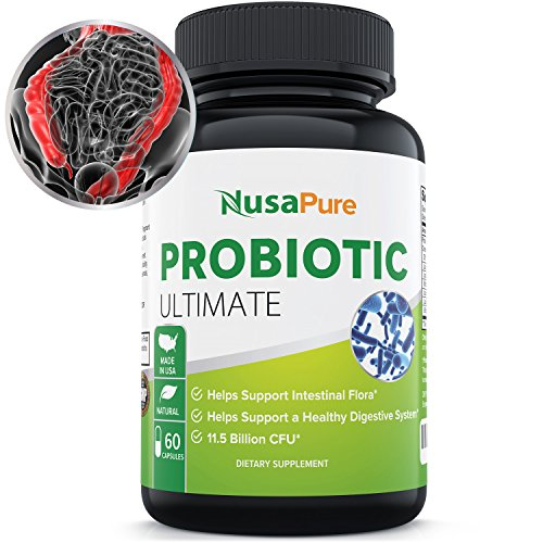 Probiotic for Men Women and Children: Vegetarian: Probiotics Improve Digestion, Increase Energy, and Promote Weight Loss: 11 Billion CFU: 100% Satisfaction Guaranteed