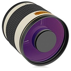 Opteka 500mm f/6.3 (with 2x- 1000mm) Telephoto Mirror Lens for Canon Digital SLR Cameras