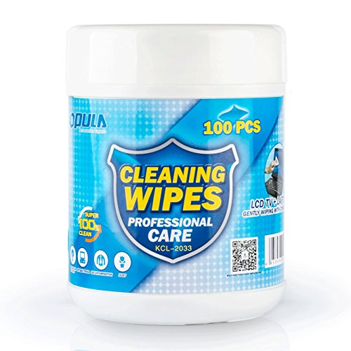 Electronic Wipes - 100 Pre-moistened Screen Wipes, Great for LCD Screens, Glasses, TV Screens, Cell Phones, iPad, Computer and More - Lcd Cleaner Wipes - Non-Scratching, Non-Streaking