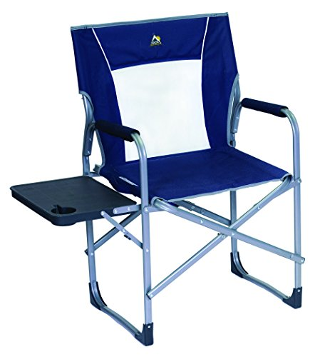 GCI Outdoor Slim-Fold Director's Camp Chair with Side Table