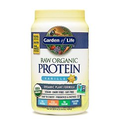 Garden of Life Organic Vegan Protein Powder with Vitamins and Probiotics - Raw Organic Plant Based Protein Shake, Sugar Free, Vanilla 22.0oz (1 lb 6 oz / 624g) Powder