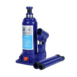 3 Ton Hydraulic Bottle Jack With Safety Valve Blue Car Jack - 3 Ton Capacity / ZBN