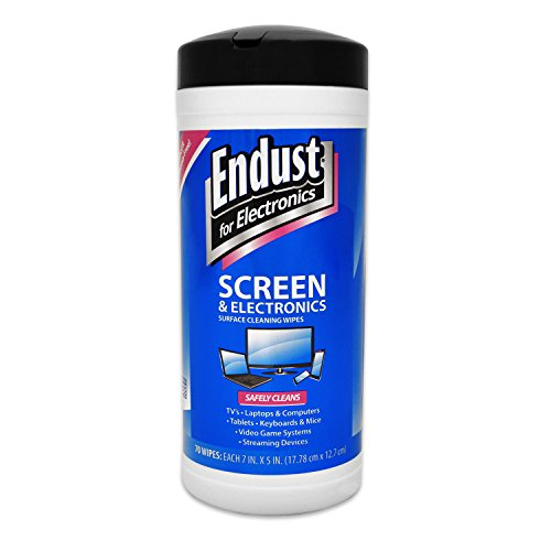 Endust for Electronics, Screen cleaning wipes, Surface cleaning, Great LCD and Plasma wipes, 70 Count