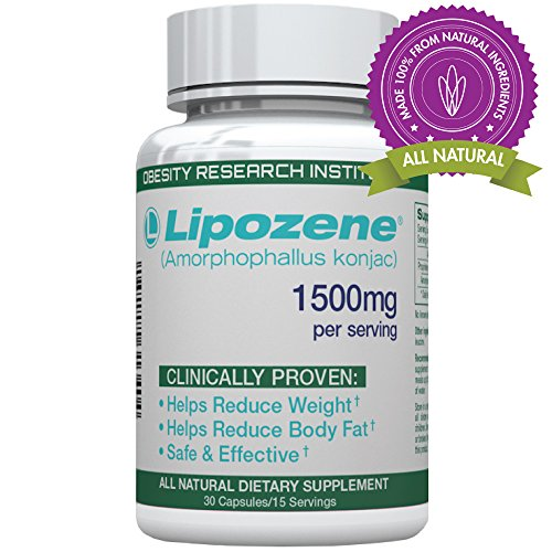 Lipozene Green - All Natural Weight Loss Supplement - Appetite Suppressant and Control - 30 Veggie Capsules - Stimulant, GMO, Gluten and Soy Free