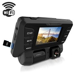 ITRUE X9D WiFi Dash Cam Rotatable Inner Front Cameras