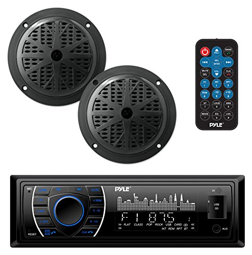Marine Headunit Receiver Speaker Kit - in-Dash LCD Digital Stereo