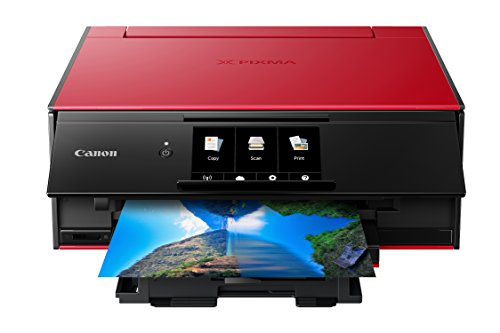 Canon Wireless All-In-One Printer with Scanner and Copier: Mobile and Tablet Printing, with Airprint(TM) and Google Cloud Print compatible, Red