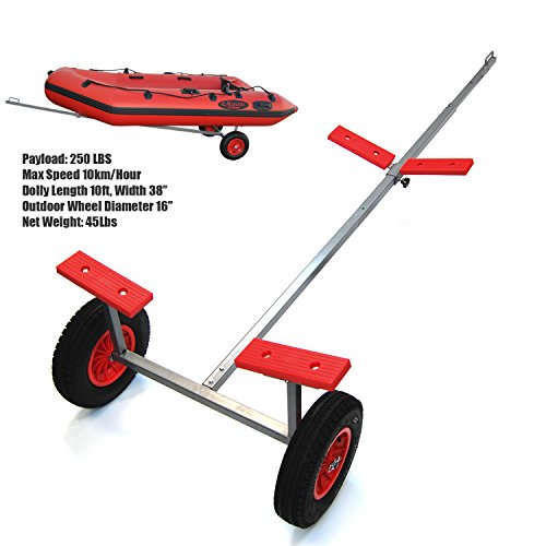 """SEAMAX Portable Boat Hand Dolly Set with 16"""" Wheels"""