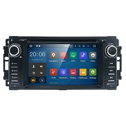 "Android 7 Car stereo CD DVD Player - In Dash Car Radio Multimedia Player Navigation System with 6.2"" LCD Bluetooth Wifi GPS for Jeep Wrangler Dodge Chrysler"