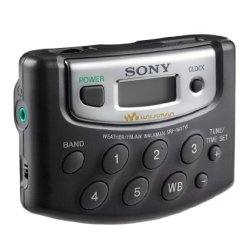 Sony Walkman Digital Tuning Weather/FM/AM Stereo Radio (Black)