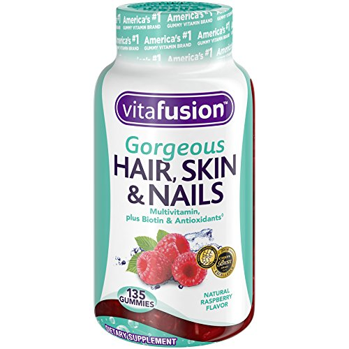Vitafusion Gorgeous Hair, Skin & Nails Multivitamin, 135 Count (Packaging May Vary)