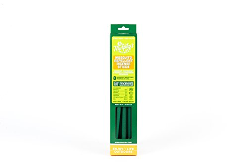 Murphy's Naturals Mosquito Repellent Incense Sticks - Bamboo Infused with Citronella, Lemongrass and Rosemary 8-Pack Carton