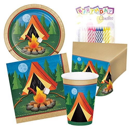 Camping Tent Camp Out Birthday Party Tableware Deluxe