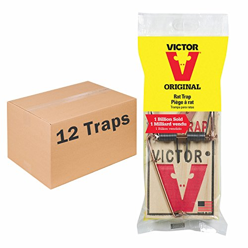 Victor Metal Pedal Rat Trap (Pack of 12)
