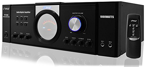 Pyle 1000 Watt Premium Home Audio Power Amplifier -Portable 4 Channel Surround Sound Stereo