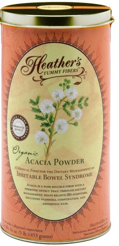 Heather's Tummy Fiber CAN Organic Acacia Senegal (16 oz) for IBS