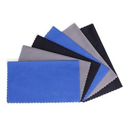 Your Choice Microfiber Cleaning Cloths For Eyeglasses, Camera Lens, Cell Phones, CD/DVD, Computers, Tablets, Laptops, Telescope, LCD Screens and Other Delicate Surfaces Cleaner(6 PCS)