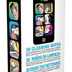iCloth Small-Screen and Lens Cleaner | 30 Wipes pre-moistened and Individually Sealed - Approved for Optical Clarity | iC30