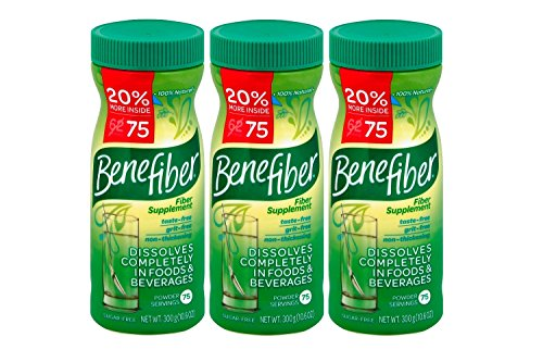 100% Natural Fiber Supplement by Benefiber, Sugar- Free, 10.6 oz (3 Pack)