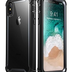 iPhone Xs Max Case, i-Blason [Ares] Full-Body Rugged Clear Bumper Case with Built-in Screen Protector for iPhone Xs Max 6.5 Inch (2018 Release) (Black)
