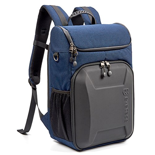 Evecase Shell DSLR Camera Backpack, Laptop Waterproof Camera Bag