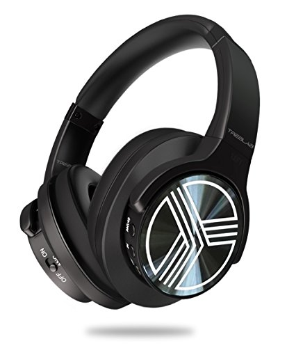 TREBLAB Z2 - Supreme Bluetooth Wireless Headphones - Active Noise Cancelling T-Quiet, Flawless aptX Sound, Neodymium 40mm Speakers, Cloud-Like Comfort Best for Airplane Travel, Office - Microphone