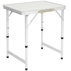 Best Choice Products 23.5x17.5in Portable Aluminum Folding Table w/Handle for Camping, Picnic, Outdoor - White